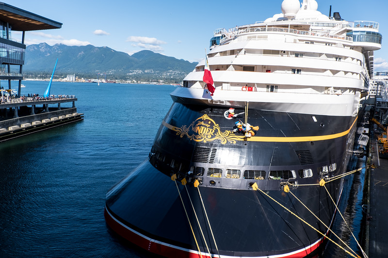 The Disney cruise ship in port