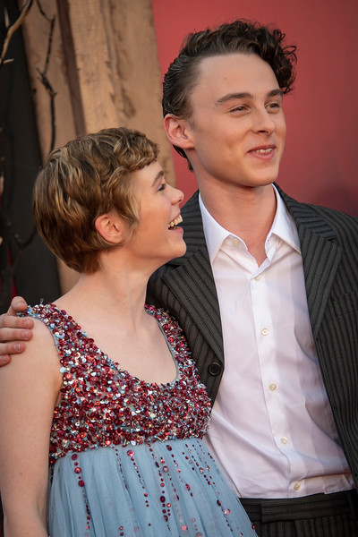 """WESTWOOD, CA - AUGUST 26: Sophia Lillis and Wyatt Oleff attend the Premiere Of Warner Bros. Pictures' """"It Chapter Two"""" at Regency Village Theatre on Monday, August 26, 2019 in Westwood, California. (Photo by Tom Sorensen/Moovieboy Pictures)"""