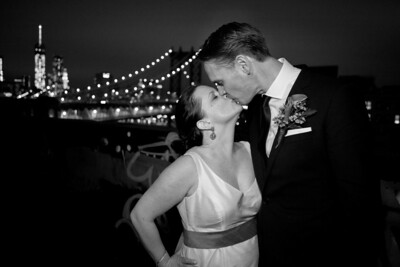 Anne & Mark Wedding (black and white)