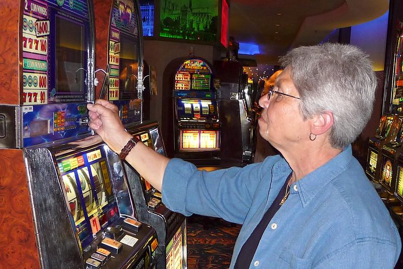 Pat at the Casino slots