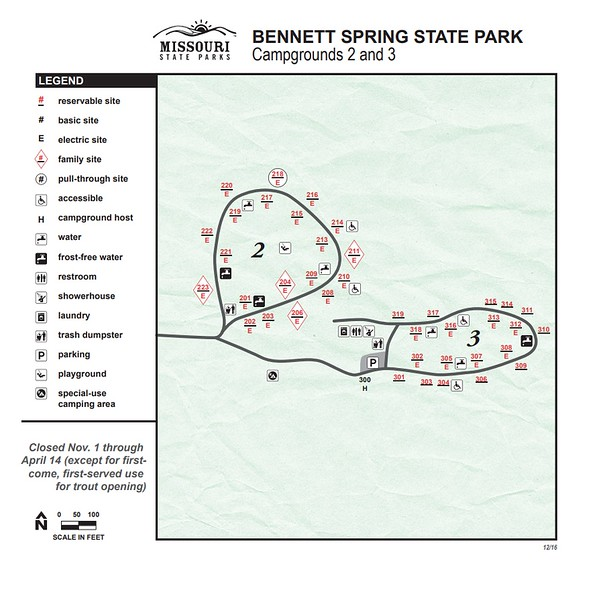 Bennett Spring State Park (Campgrounds #2 & #3)