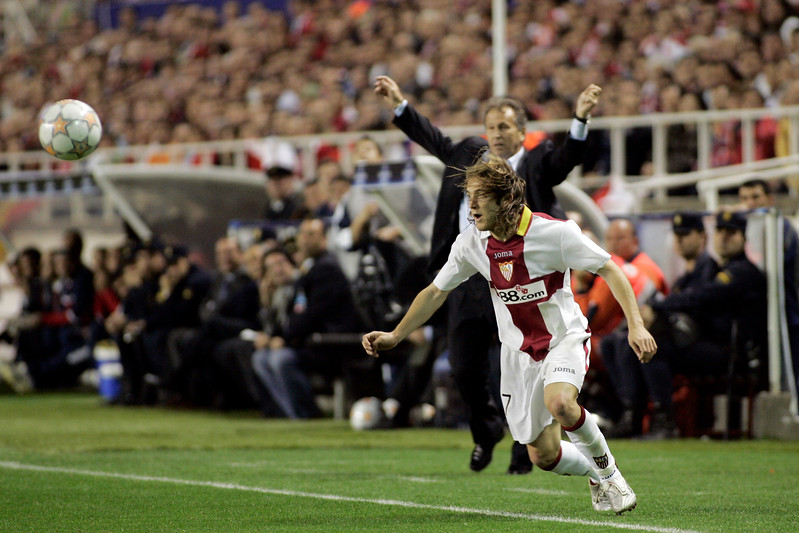 Diego Capel (Sevilla). UEFA Champions League first knockout round game (second leg) between Sevilla FC (Seville, Spain) and Fenerbahce (Istambul, Turkey), Sanchez Pizjuan stadium, Seville, Spain, 04 March 2008.