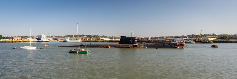 Submarine U-475 Black Widow in the Medway