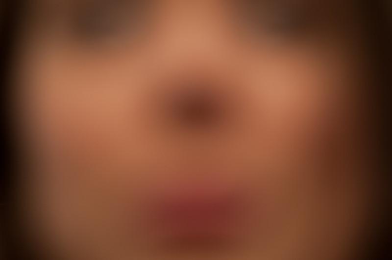 Jonee's self-portrait with a lens that won't focus very close.