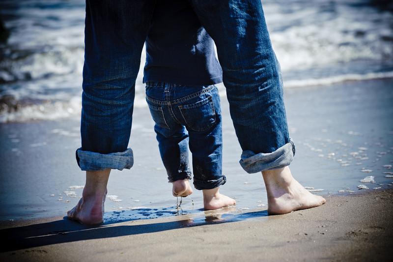 Jennifer + Drew = Henry (Family Photography, Seabright Beach, Santa Cruz, California)