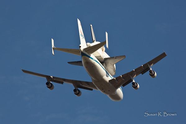 Endeavour Fly Over Sacramento 2012