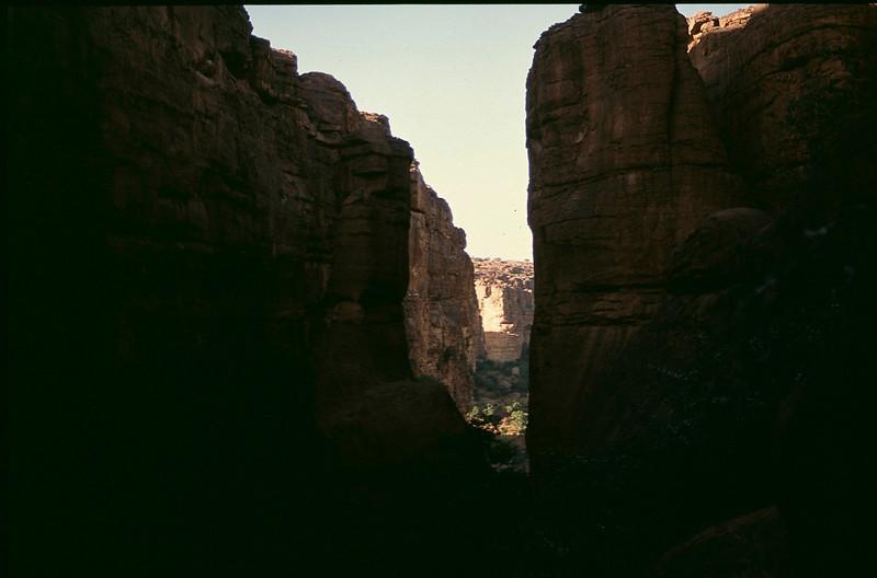 climb down cut through the escarpment