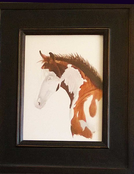 Paint Filly 9x12 oil on paper