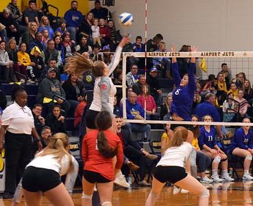 HS Sports - Divine Child vs. Ida volleyball regional 19