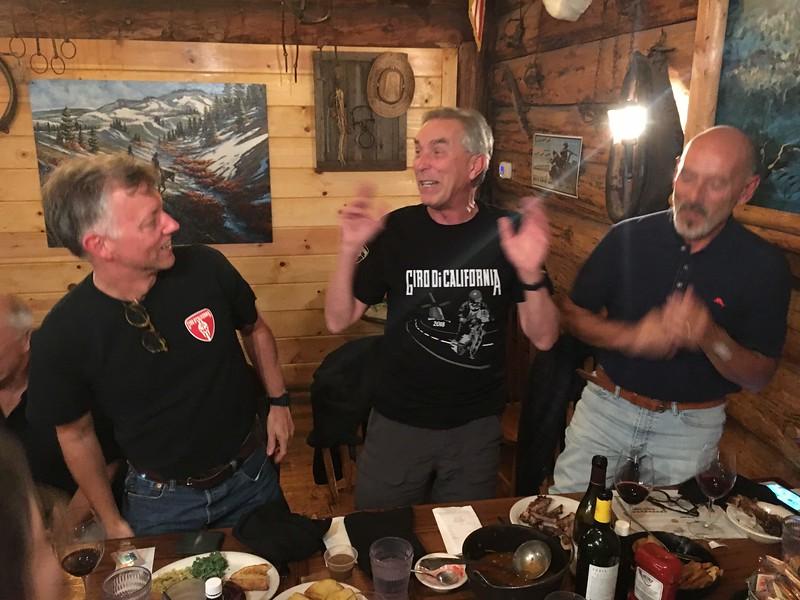 Bealle kicks off the traditional round of Hokey Pokey