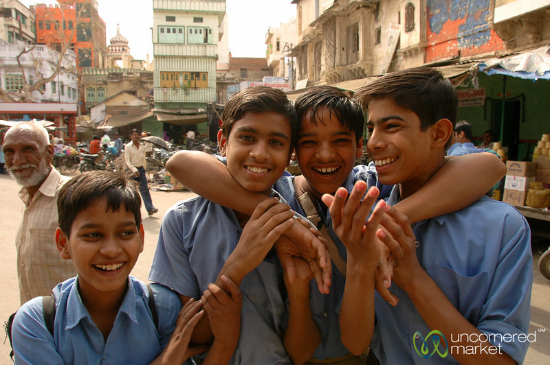 School Kids at the Market - Udaipur, India