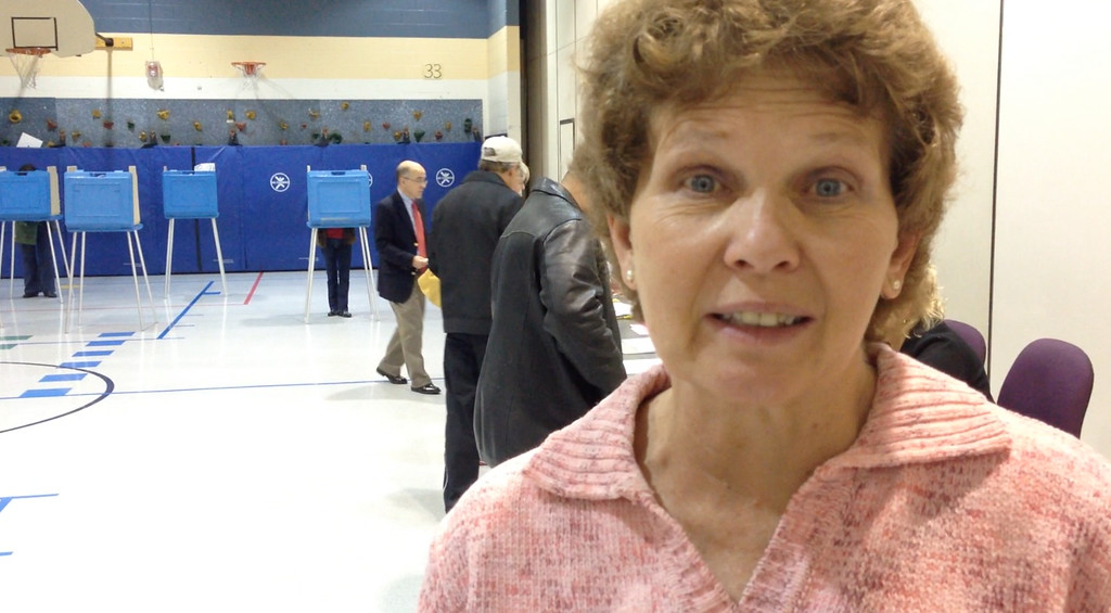. Sue Grubba, chairwoman at Precinct 7 in Oakland Township, at Musson Elementary, said the early morning voting was heavy, as people started lining up at 6:20 a.m. Tuesday. (Stephen Frye / The Oakland Press)
