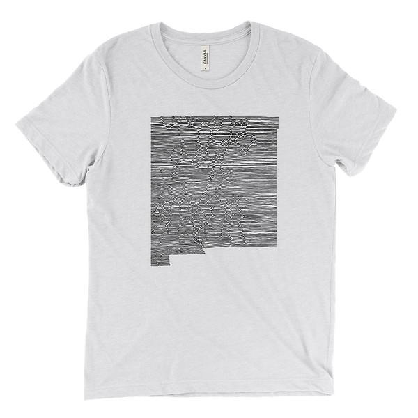 Outdoor Apparel - Organ Mountain Outfitters - T-Shirt - New Mexico Mountain Range - White Flek - Black.jpg