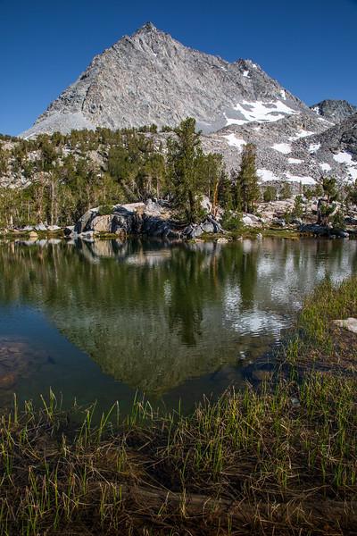 Gem Lake and Spire Peak, John Muir Wilderness, California