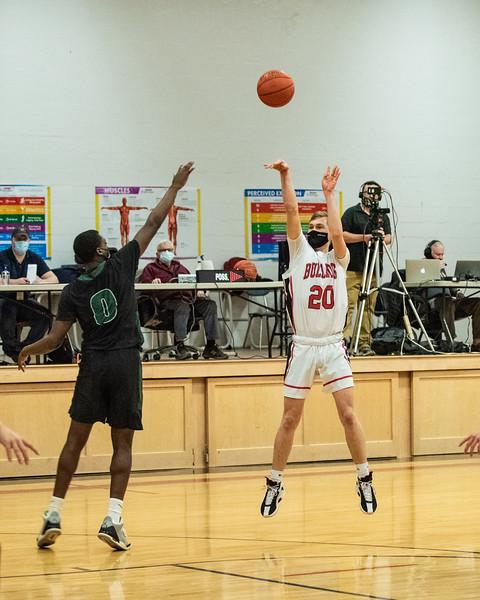 2021 Varsity Boys Basketball:  Hall-Dale vs Spruce Mountain