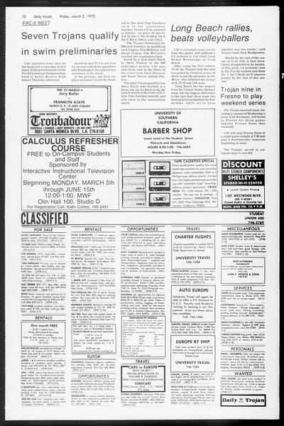 Daily Trojan, Vol. 65, No. 83, March 02, 1973