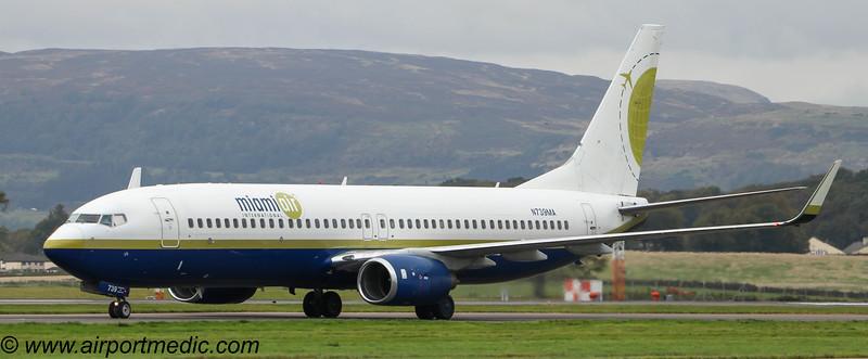N739MA B737 Miamiair @ Glasgow Airport (EGPF)