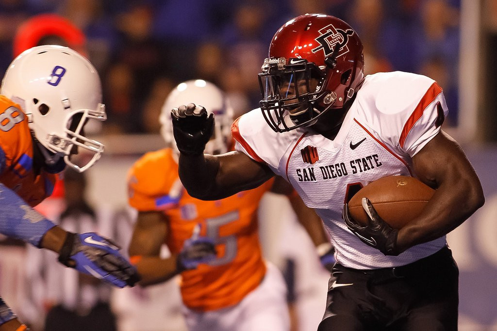 ". <p><b> San Diego State running back Adam Muema abruptly left the NFL combine, saying he was told to do so by � </b> <p> A. God <p> B. The Virgin Mary <p> C. Manti Teo�s girlfriend <p><b><a href=\'http://www.cbssports.com/nfl/eye-on-football/24457886/rb-adam-muema-nowhere-to-be-found-after-god-spoke-to-him-at-combine\' target=""_blank\"">HUH?</a></b> <p>    (Otto Kitsinger III/Getty Images)"