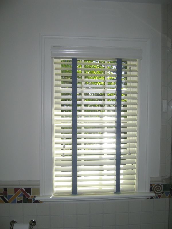 """2"""" Wood blind with decorative tapes"""