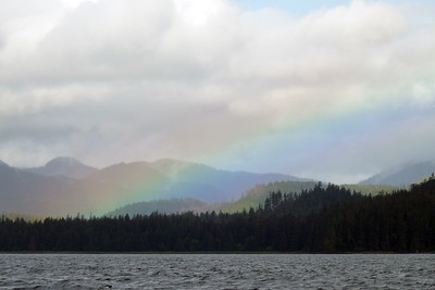 DAY 238 - August 26, 2011 - Rainbow at False Bay, Chichagof Island Cynthia Meyer, Chichagof Island, Alaska