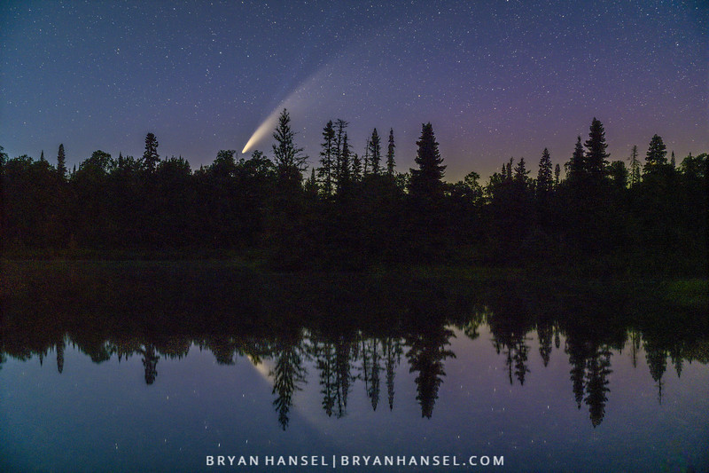 Comet NEOWISE over Devil Track Lake