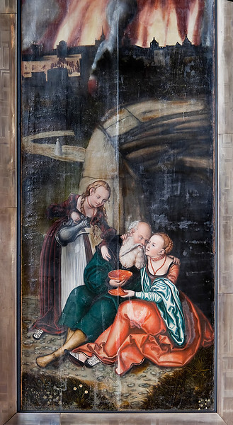 Schneeberg, St. Wolfgang, Hauptaltar aus Werkstatt L. Cranach d.Ä., Rückseite (1539)