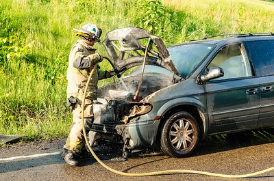 06-06-18 Three Rivers FD - Car Fire