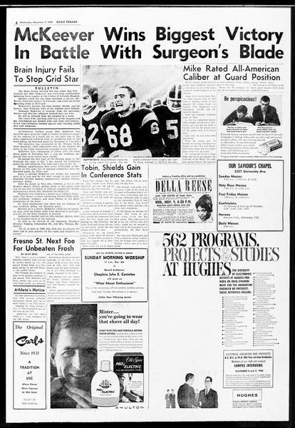 Daily Trojan, Vol. 52, No. 32, November 02, 1960