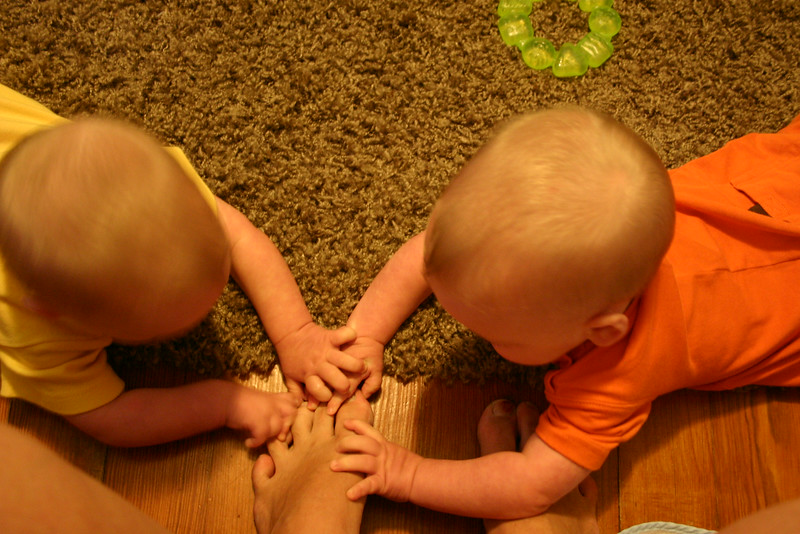 Fightin over mama's toes