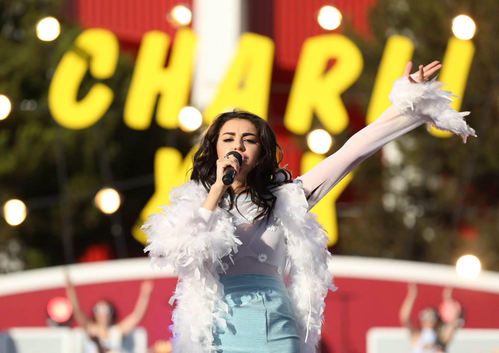 . Charli XCX performs at the MTV Video Music Awards at The Forum on Sunday, Aug. 24, 2014, in Inglewood, Calif. (Photo by Matt Sayles/Invision/AP)