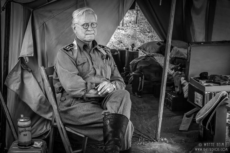 Portrait in Camp  Black & White Photography by Wayne Heim