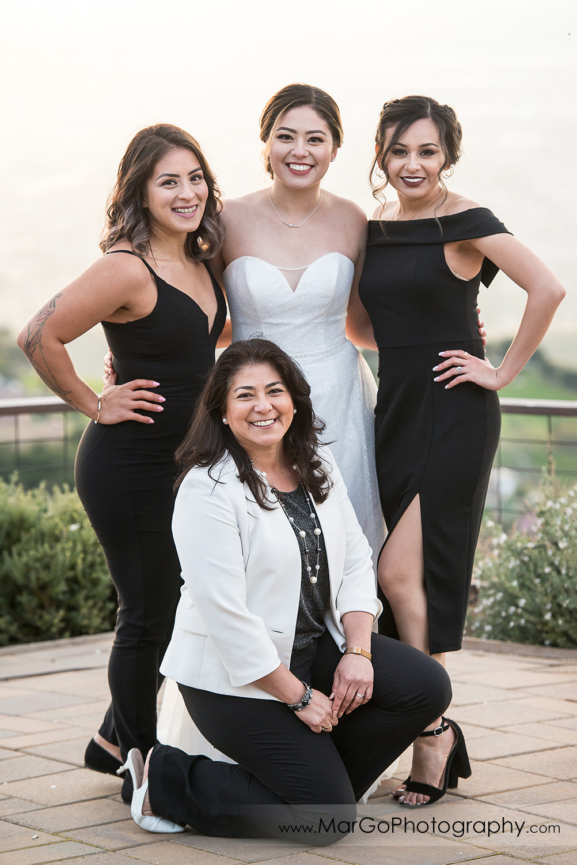 bride and bridesmaids at Mt Hamilton GrandView Restaurant in San Jose