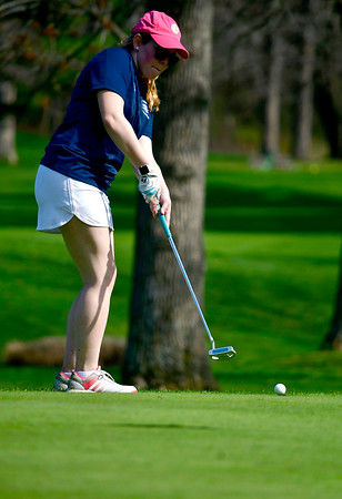 4/23/2019 Mike Orazzi | Staff Lauralton Hall's Claire McCrory at the Westwoods Golf Course on Tuesday.