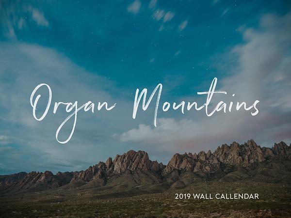 2019 Organ Mountains Wall Calendar