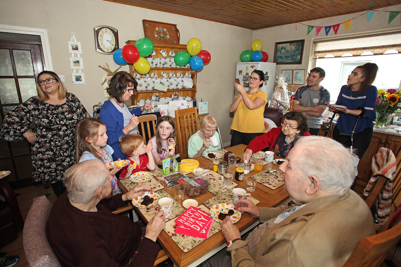 Bridgie's 90th Birthday celebration at the homestead in Killane, Edenderry  13th July 2018 Pictures Niall O'Mara