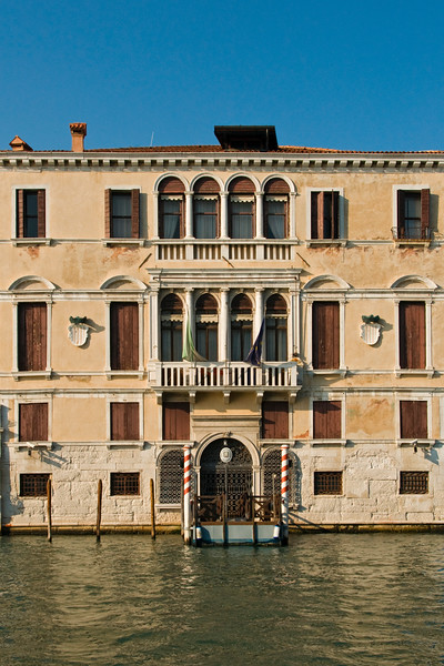 Gussoni Grimani Palace, built in 1548-1556 by Architect Michele Sanmicheli in Cannaregio District of Venice, currently used by Veneto Region Offices, Italy