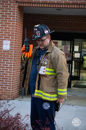 VA Hospital - Bldg 138 - Working Fire