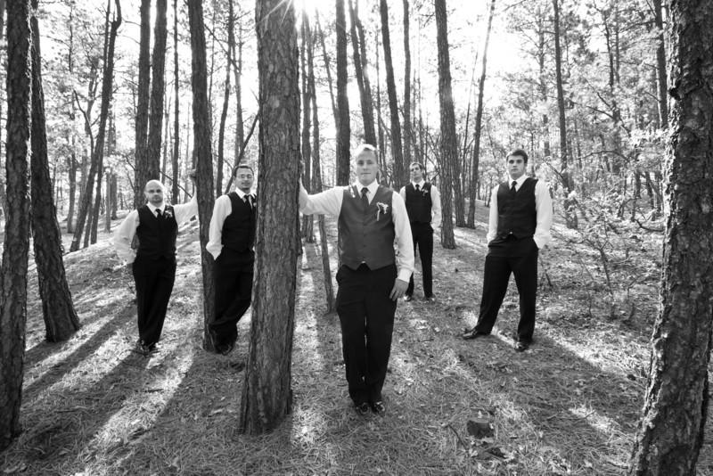 2467  groomsmen woods bw.JPG