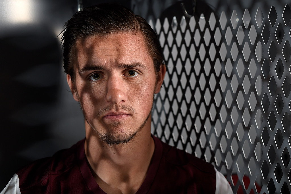 . COMMERCE CITY, CO - FEBRUARY 11: Caleb Calvert poses for a portrait during Colorado Rapids media day on Thursday, February 11, 2016. (Photo by AAron Ontiveroz/The Denver Post)