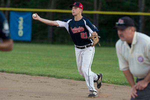 06/27/19 Wesley Bunnell | Staff Berlin Post 68 Legion baseball vs Southington Post 72 on Thursday June 27, 2019. Kyle Leifert (21).