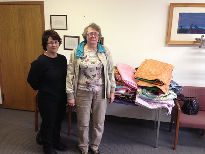 2012-12-07 St Luke Itasca Lap Blanket Donation