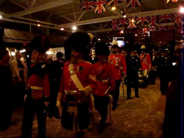 The parade of Queen Elizabeth II
