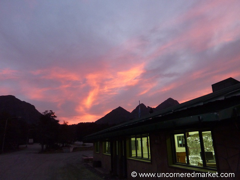 A Colorful Sunset in Bariloche, Argentina