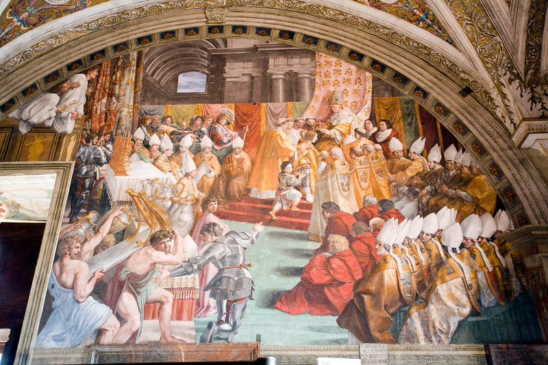 Crowning of Charlemagne, Room of the Fire in the Borgo, Raphael's rooms, Vatican Museums