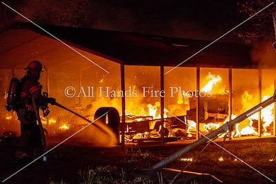 20180413 - Unincorporated Mount Juliet - Outbuilding Fire