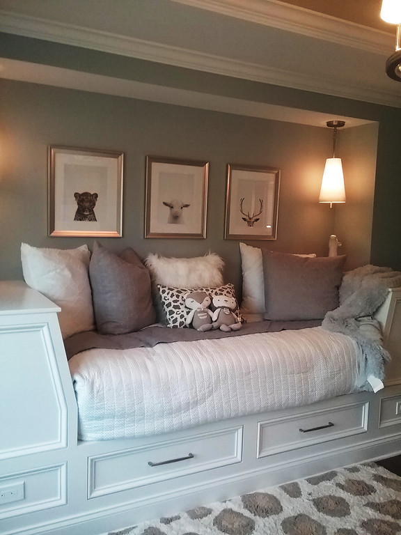 . A custom daybed is the focal point of the toddler room designed by Tracy Baker of Design Details in Mentor. (Jean Bonchak)