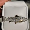 3.00ctw Art Deco Diamond Fish Brooch 8