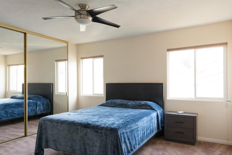 Master Bedroom with mirrored wardrobe doors