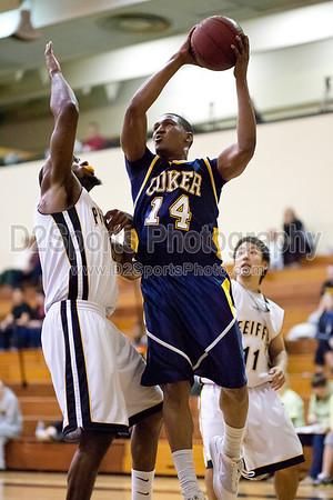 Coker Cobras vs Pfeiffer Falcons Men's Basketball 1/26/2011