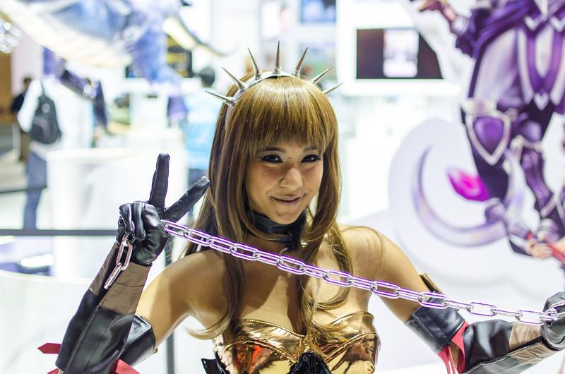 Booth-babe at E3 2012
